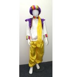 Disfraz Niño Principe Arabe Azul-Amarillo