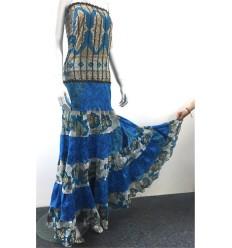 Vestido Boho Chic - Azul