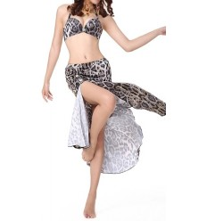 Traje dos piezas Leopardo B/N Belly Dance