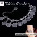 Tobillera Monedas