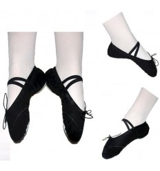 Zapatillas de Ballet INFANTIL en tela NEGRA