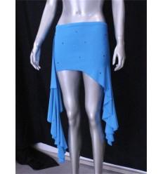 Sobre falda desigual con strass