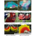 Pareja Abanicos de Seda Cortos - 30 CM (Flutters)