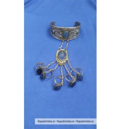Brazalete con 5 anillos Kuchi Afganistán