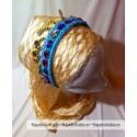 Diadema con piedras de colores y monedas