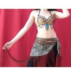 Traje de dos piezas estilo tribal - leopardo