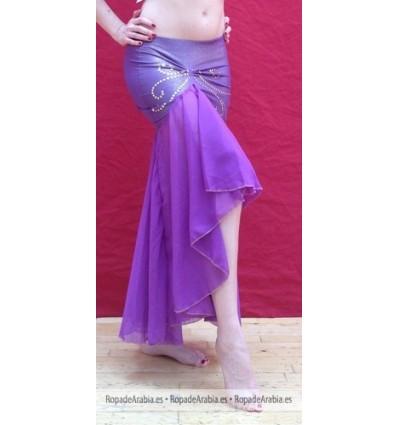 Falda Sirena con Fruncido