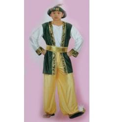 Sultán Árabe - Disfraz Niño Amarillo y Verde
