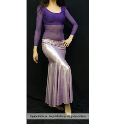 Falda Sirena en tela metalizada
