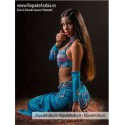 Traje de Belly Dance top en V - tara