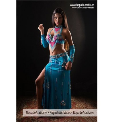 Traje de Belly Dance top en V